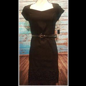 BCX Black Bodycon Dress - Size 7.  NWT!